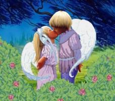 Рисунок на габардине для вышивки бисером Первый поцелуй Княгиня Ольга СКВ-102