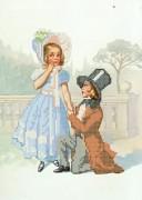 Рисунок на габардине для вышивки бисером Первая любовь