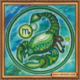 Набор для вышивки бисером Знак Зодиака. Скорпион, , 160.00грн., АВ-332-08, Абрис Арт, Гороскоп