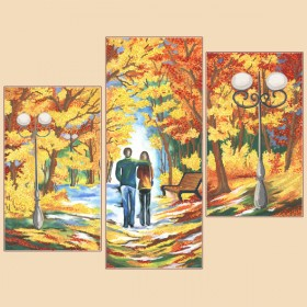 Рисунок на ткани для вышивки бисером (3 части) Осенняя палитра Марiчка (Маричка) РКП-1008 - 380.00грн.