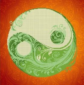 Рисунок на ткани для вышивки бисером Инь - Янь, , 112.00грн., S-126, Картины бисером, Схемы и наборы для вышивки бисером по Фен шуй
