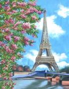 Рисунок на ткани для вышивки бисером Париж