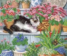 Рисунок на ткани для вышивки бисером Любительница цветов Марiчка (Маричка) РКП-250