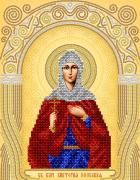 Рисунок на ткани для вышивки бисером Св. Вмч Виктория Эфесская
