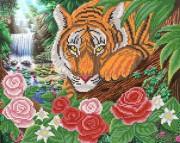 Рисунок на ткани для вышивки бисером Полосатый хищник