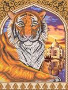 Рисунок на ткани для вышивки бисером Тигр в арке