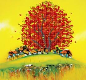 Рисунок на ткани  для вышивки бисером Восточная осень, , 85.00грн., АКЗ-004, А-строчка, Наборы и схемы для вышивки бисером и нитками Восток