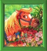 Рисунок на атласе для вышивки бисером Красавица