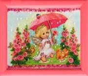 Рисунок на атласе для вышивки бисером Ангелочек