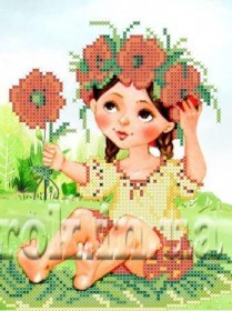 Рисунок на ткани для вышивки бисером Девочка в веночке Княгиня Ольга СД-148 - 24.00грн.