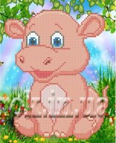 Рисунок на ткани  для вышивки бисером Розовый бегемотик Княгиня Ольга СД-130 - 24.00грн.