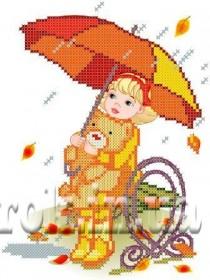 Рисунок на ткани для вышивки бисером Листопад Княгиня Ольга СД-098 - 24.00грн.