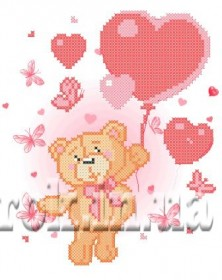 Рисунок на ткани для вышивки бисером На воздушных сердечках Княгиня Ольга СД-096 - 24.00грн.