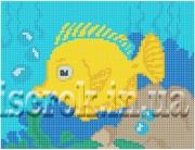 Рисунок на ткани для вышивки бисером Морская рыбка