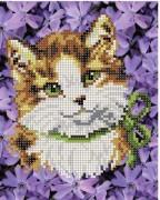 Рисунок на ткани для вышивки бисером Кошка Мура