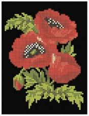 Рисунок на ткани для вышивки бисером Маков цвет Княгиня Ольга СД-005
