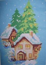Рисунок на ткани для вышивки бисером Зима Княгиня Ольга НР-003