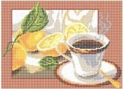 Рисунок на ткани для вышивки бисером Чай с лимоном