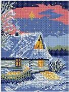 Рисунок на ткани для вышивки бисером Зимняя ночь