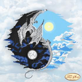 Рисунок на ткани для вышивки бисером Инь и Янь, , 98.00грн., ТА-006, Tela Artis (Тэла Артис), Схемы и наборы для вышивки бисером по Фен шуй