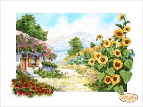 Рисунок на ткани для вышивки бисером Сельский пейзаж, , 95.00грн., ТА-052, Tela Artis (Тэла Артис), Украина