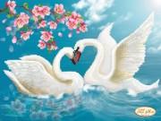 Рисунок на ткани для вышивки бисером Вечная любовь