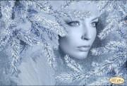 Рисунок на ткани для вышивки бисером Снежная королева