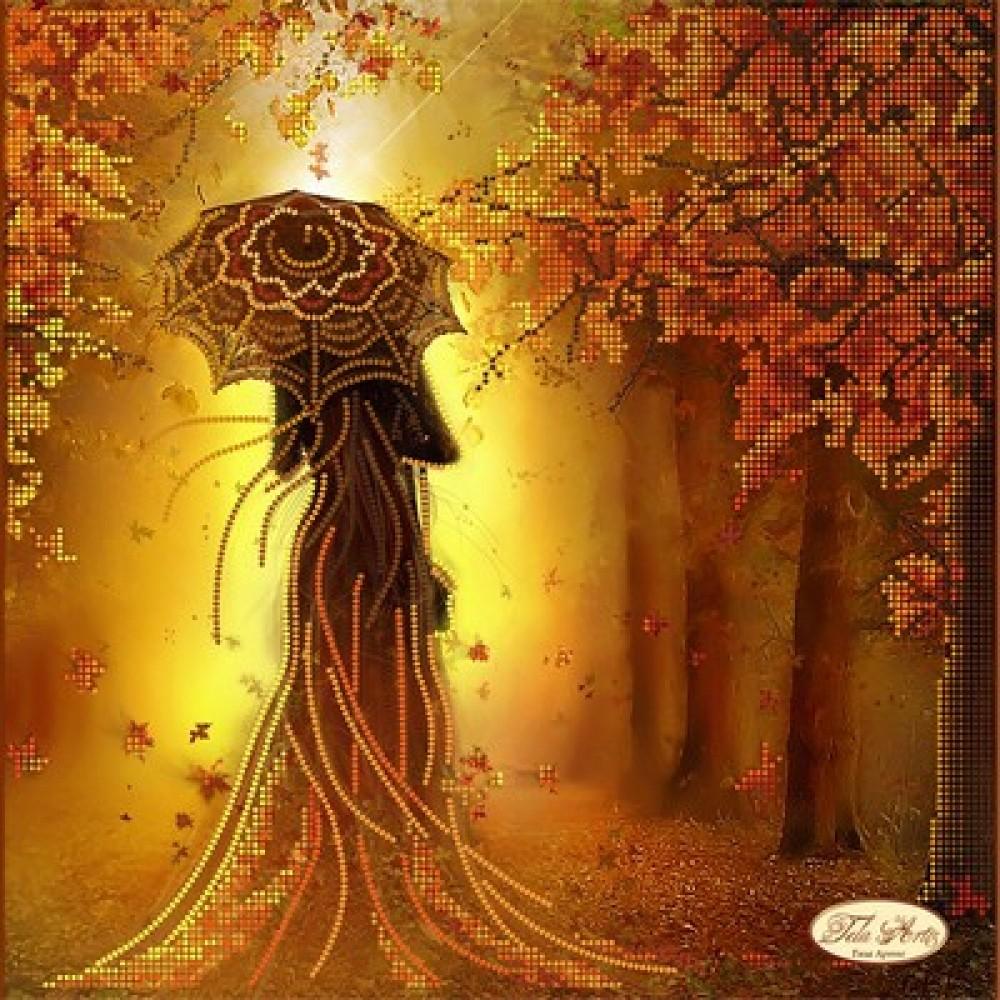 Рисунок на ткани для вышивки бисером Девушка Осень Tela ...  Девушка Осень Рисунок