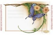 Рисунок на ткани для вышивки бисером Цветочная рамочка