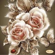 Рисунок на ткани для вышивки бисером Карамельные розы