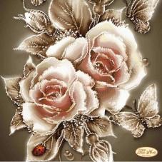 Рисунок на ткани для вышивки бисером Карамельные розы Tela Artis (Тэла Артис) ТА-090