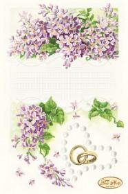 Рисунок на ткани для вышивки бисером Свадебная метрика Сирень, , 95.00грн., ТА-107, Tela Artis (Тэла Артис), Метрики