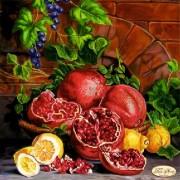 Рисунок на ткани для вышивки бисером Натюрморт с виноградом