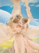 Рисунок на ткани для вышивки бисером Мать и дитя