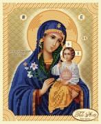Рисунок на ткани для вышивки бисером Икона Божьей Матери Неувядаемый цвет