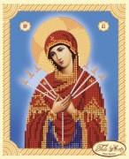 Рисунок на ткани для вышивки бисером Божья Матерь Семистрельная