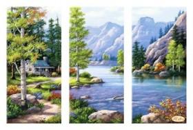Рисунок на ткани для вышивки бисером Горный пейзаж Tela Artis (Тэла Артис) СК-006 - 190.00грн.