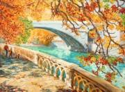 Рисунок на ткани для вышивки бисером Осенняя прогулка