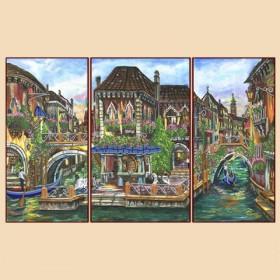 Рисунок на ткани для вышивки бисером Венецианские мотивы (полиптих) Марiчка (Маричка) РКП-1009 - 380.00грн.