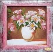 Набор для вышивки бисером Розовые лилии