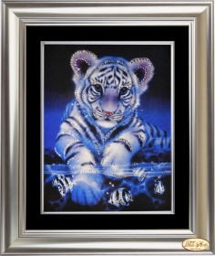 Набор со стразами Озорной тигрёнок, , 339.00грн., КС-004 ТА, Tela Artis (Тэла Артис), Наборы со стразами