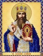 Рисунок на ткани для вышивки бисером Св. Василий Великий