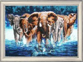 Набор для вышивки бисером Слоны, , 752.00грн., 603Б, Баттерфляй (Butterfly), Схемы и наборы для вышивки бисером по Фен шуй
