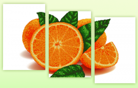Рисунок на ткани для вышивки бисером Апельсин (полиптих из трёх частей) А-строчка АРЗ-009 - 228.00грн.