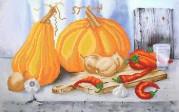 Рисунок на ткани для вышивки бисером Овощной натюрморт