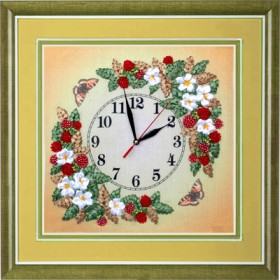 Набор для вышивки лентами Часы. Ягода - малина, , 316.00грн., ЧНЛ-2001, Марiчка (Маричка), Часы