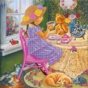Рисунок на ткан для вышивки бисером Чаепитие с друзьями