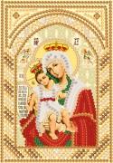 Рисунок на ткани для вышивки бисером Богородица Милующая ( Достойно есть)