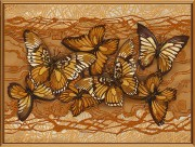 Рисунок на атласе для вышивки бисером Полет бабочек