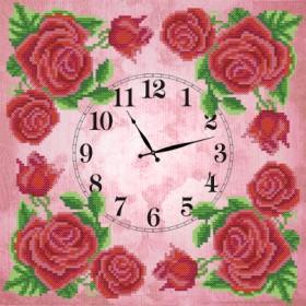 Рисунок на ткани для вышивки бисером Часов Королевская роза, , 92.00грн., ЧКБ-3003, Марiчка (Маричка), Часы